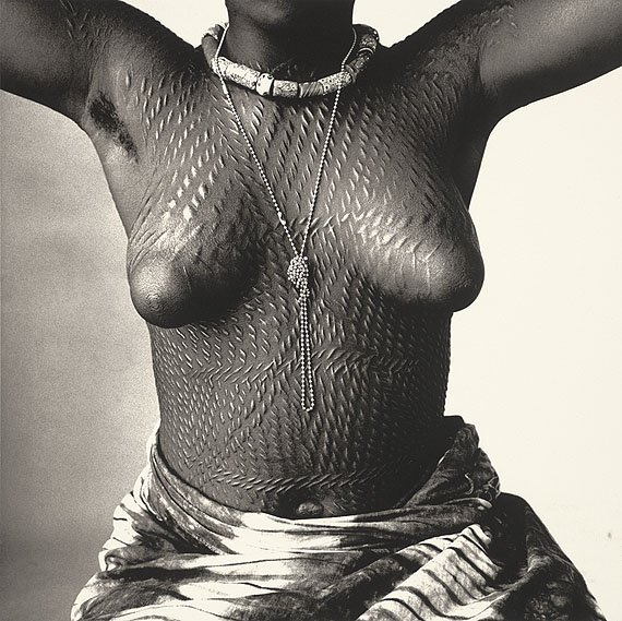Irving Penn Scarred Dahomey Girl platinum print alternative historic process